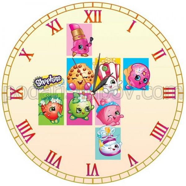 Детски стенен часовник Shopkins, d 26см