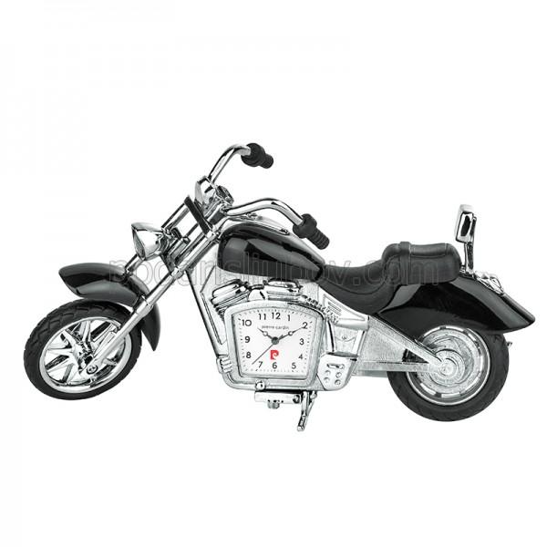 Часовник миниатюра мотор chopper с черни седалки, Pierre Cardin