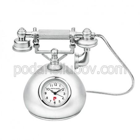 Часовник миниатюра ретро телефон, Pierre Cardin