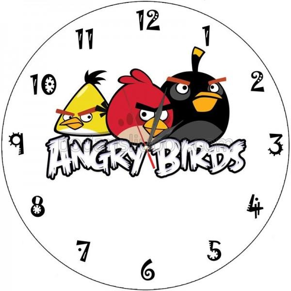 Стенен часовник Angry birds, d 26см
