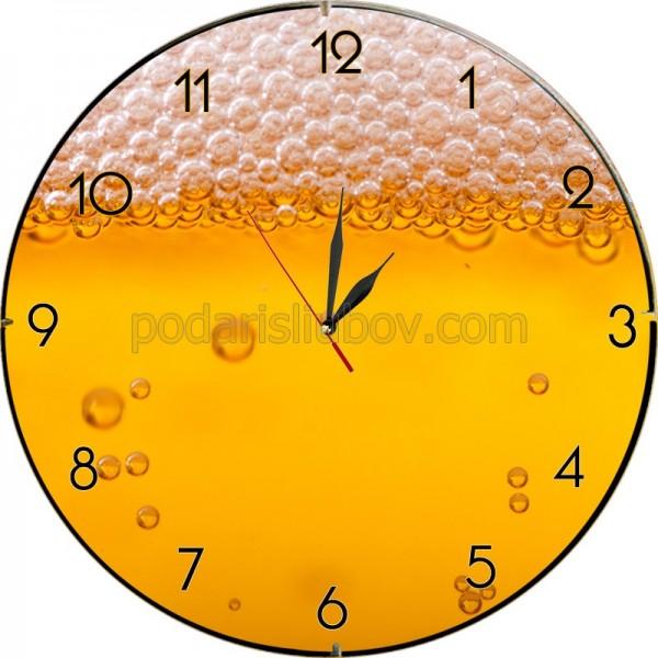 Стенен часовник Бира, d 26см