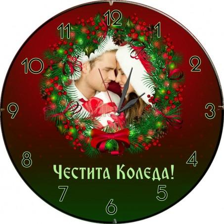 Стенен часовник Коледа, с Ваша снимка и текст
