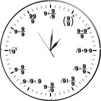 Стенен часовник Математика, d 26см