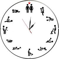 Стенен часовник SEXY пози, d26см