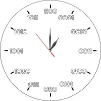 Стенен часовник за програмист, d 26см