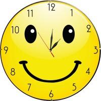Забавен стенен часовник Усмивка, d 26см