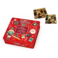 Коледни шоколадови бисквити в метална кутия