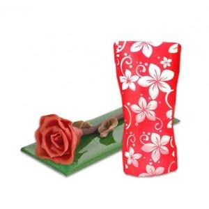 Комплект разгъваема ваза и шоколадова роза
