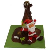 Шоколадов Дядо Коледа с бутилка