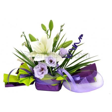 """Бонбон от цветя """"Лилава свежест"""""""