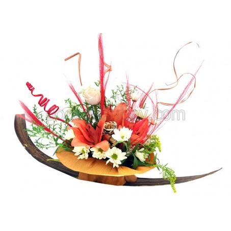 """Цветна декорация """"Лодка"""" - уникален подарък"""