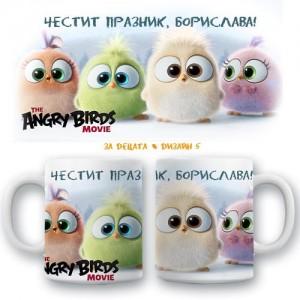 "Детска керамична чаша ""Angry birds"", различни модели"