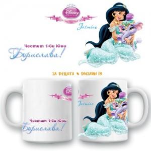 """Детска керамична чаша """"Принцеси"""", различни модели"""