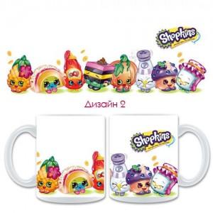 """Детска керамична чаша """"Shopkins"""", различни модели"""