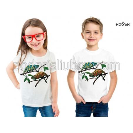 Детска соларна тениска Хамелеони