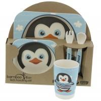 Детски сервиз от бамбук, Пингвинче