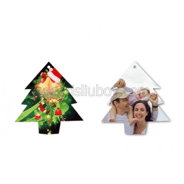 Коледна играчка с Ваша снимка и текст, Елхичка