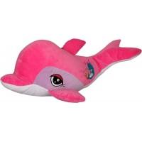 Огромен плюшен делфин със звук, три цвята, 65см