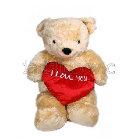 Огромен плюшен мечок 115см със сърце