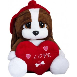 Огромно влюбено куче от плюш, 60см