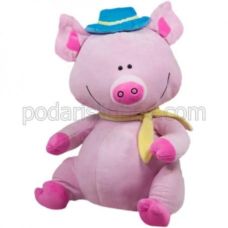 Голямо розово прасенце 40см, 2019г. - годината на прасето