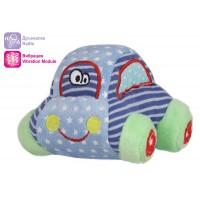 Плюшена бебешка кола - с дрънкалка и вибрация