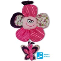 Плюшена играчка - латерна Цвете с пеперуда, 30см