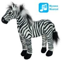 Плюшена играчка - музикална Зебра, 30см