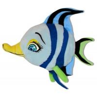 Плюшена играчка - синя рибка, 25см