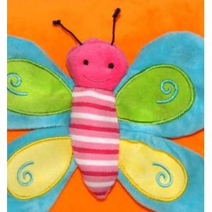 Плюшена възглавничка с пеперуда, 30*30см