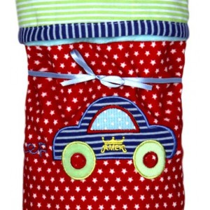 Бебешки сет за момче с одеялце, раничка и дрънкалка