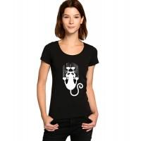 Дамска тениска Драскаща котка