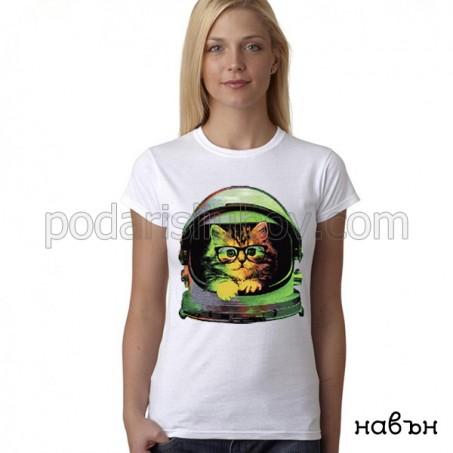Дамска соларна тениска Коте космонавт