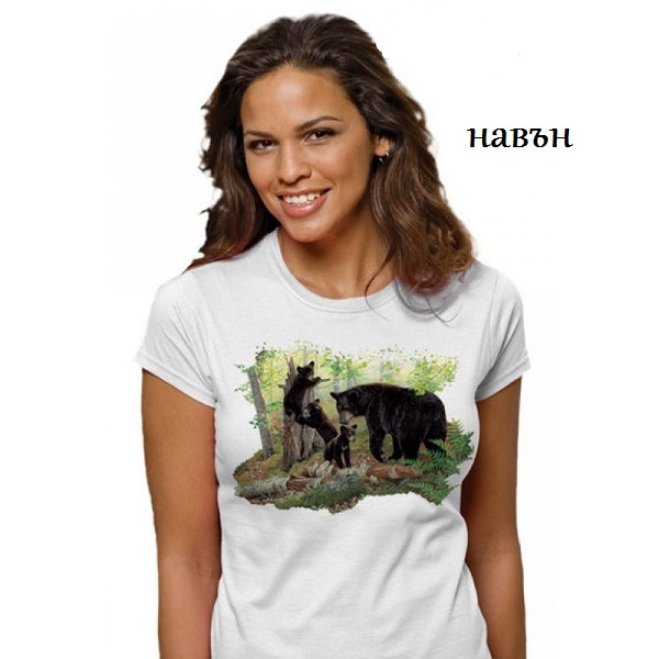 Дамска соларна тениска Мечки