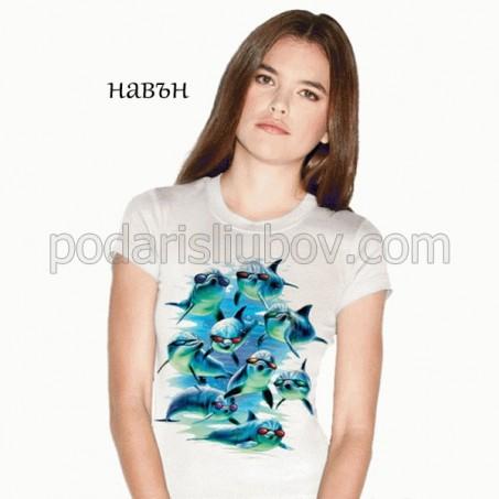 Дамска соларна тениска Модерен отряд