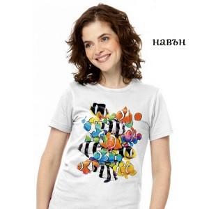 Дамска соларна тениска Риби