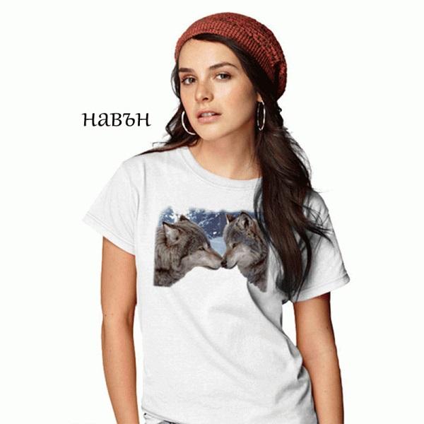 Дамска соларна тениска Вълци