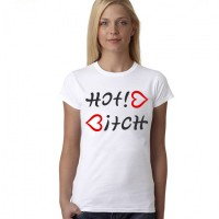"""Дамска тениска """"Hot *itch"""""""