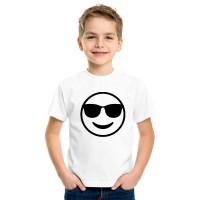 Бяла детска тениска Mr. Anderson