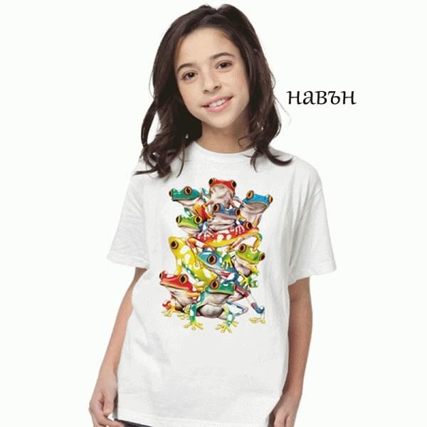 Детска соларна тениска Цветни жаби