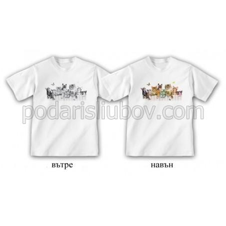 """Детска соларна тениска """"Котки"""""""