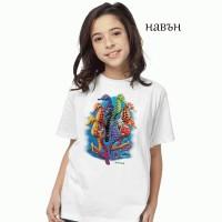 Детска соларна тениска Морски кончета