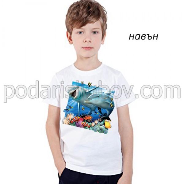 """Детска соларна тениска """"Морски приятели"""""""