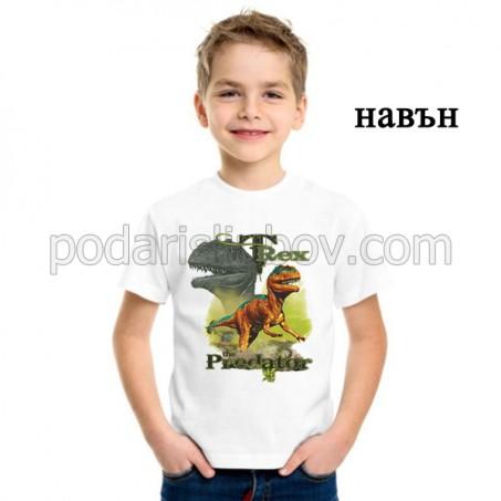 """Детска соларна тениска """"T-Rex"""" хищници"""