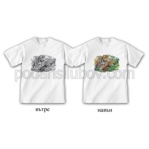 """Детска соларна тениска """"Леопарди"""""""