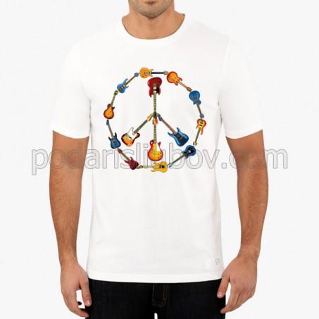 Тениска с цветни китари