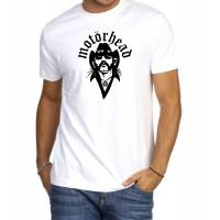 Мъжка тениска Motorhead за фенове в бял или черен цвят