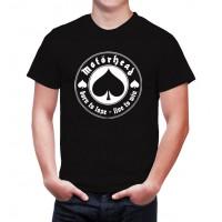 Мъжка тениска Motorhead в черен/бял цвят