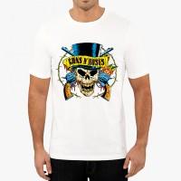 Мъжка тениска Guns N Roses череп