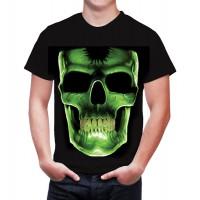 Мъжка тениска с голяма неонова щампа (40*50см), Череп